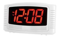 Acctim LED Alarm Clock - White